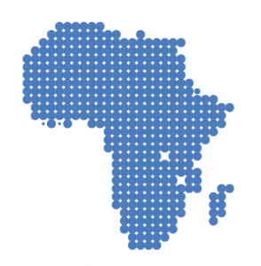 Pixelated image of Africa Region