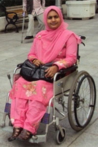 Ashrafun Nahar Misti, a participant in the 2011 Asia Pacific Disability Rights Monitoring Training in Asia Pacific