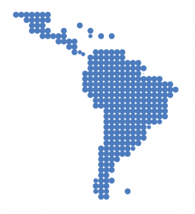 Pixelated image of Latin America Region