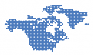 Pixelated image of North America Region
