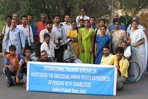 Group photo of participants of the International Training Seminar in Andhra Pradesh, India