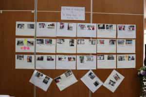 Girls with disabilities had their pictures presented at the exhibition. This photo shows the display of photos.